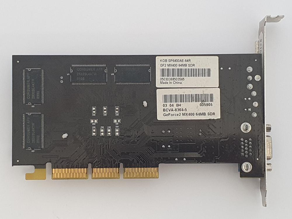 Nvidia GeForce 2 MX-400 SDR 64MB AGP